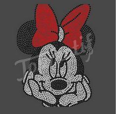 Minnie mouse cute iron on rhinestone transfers