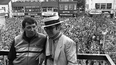 Graham Taylor and Elton John: Graham Taylor (left) led Watford from the Football League Fourth Division to the First Division in only five years from 1977