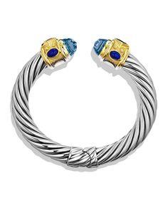 Renaissance Bracelet with Blue Topaz, Iolite, and Gold