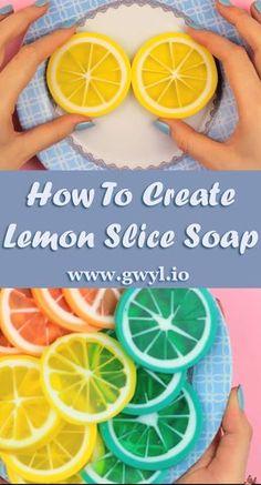 How To Create Lemon Slice Handmade Soap - Gwyl.io How To Create Lemon Slice Soap Lemon Soap, Homemade Soap Recipes, Homemade Cards, Bath Soap, Diy Spa, Handmade Soaps, Handmade Headbands, Handmade Rugs, Handmade Crafts