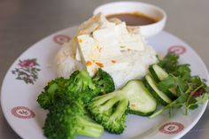 Tofu and rice from Nong's Khao Man Gai <3