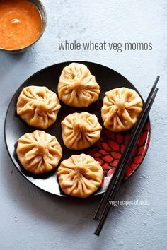 whole wheat veg momos recipe - a healthy version of veg momos made with whole wheat flour or atta #nepali #world