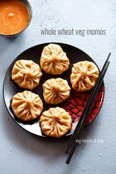 whole wheat veg momo recipe, how to make whole wheat veg momos