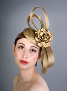 William Chambers Millinery | Floral Buntal Bow | Oro Tocado y | LOVEHATS.COM