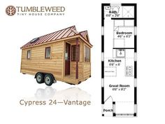 Downstairs Sleeping For Two Real People Tiny House Trailer Plans, Tiny House On Wheels, Small House Plans, House Plans For Sale, Tumbleweed Tiny Homes, Tiny House Company, Cabin Floor Plans, House Stairs, Tiny House Living