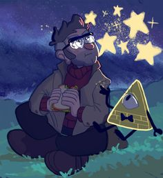Gravity Falls Stanford Pines Bill Cipher With Images