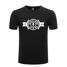 Vintage Gold's Gym Muscle Casual Fitness Bodybuilding Men's Short Sleeve Tee Shirt | TShirt | T-Shirt Gold's Gym, Local Gym, Gym Design, Classic Gold, Workout Wear, Vintage Designs, Tee Shirt, Bodybuilding, Muscle