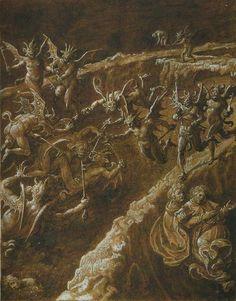 Illustration from Dante Alighieri's Inferno, unknown period