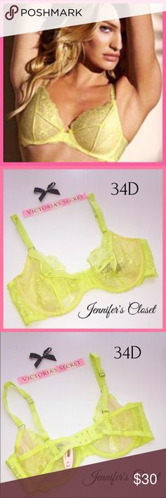 •Victoria's Secret• Unlined underwire bra V I C T O R I A 'S ✦ S E C R E T    ❈ Condition: New with tags  ❈ Reasonable Offers Always Welcome!  ❈ Fast shipping Monday⇢Friday  Same/Next day after your purchase  ❈ Questions? Please comment below,  I will be more than happy to assist you ☻  ❈ Bundles are always encouraged to save on shipping!   ❈Thank you for stopping by! Hope to have you as a customer or returning customer   xo ღ Jennifer Victoria's Secret Intimates & Sleepwear Bras