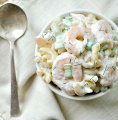 salade pâte crevette céleri aneth