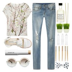 """#203 ..."" by berina-2000 ❤ liked on Polyvore featuring R13, Dolce&Gabbana, shu uemura, Miu Miu, Crate and Barrel, Seletti, Fresh and Hershesons"