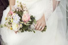 Travel theme wedding flowers.  Pastel bridal bouquet. Flowers by http://www.missvictoriasfloralemporium.co.uk/ Photography by http://www.mariannefordphotography.com/