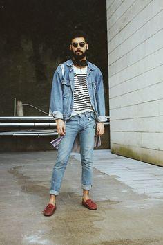 Wrangler Jacket, H&M Tshirt, Topman Pants, Matraş Moc.