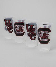 South Carolina Gamecocks Plastic Pint Glass Set