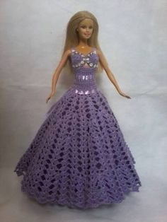 ropa de barbie tejida a crochet grafico - Pesquisa Google