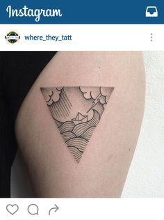 Travel tattoo idea: Paper boat in storm #kilroy #travel #tattoo