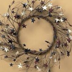 Prim Americana Wreath with Stars!