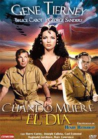 Cuando muere el día (1941) EEUU. Dir: Henry Hathaway. Drama. Bélico. Aventuras. II Guerra Mundial - DVD CINE 692