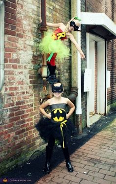 Batman & Robin - Homemade Halloween Costumes    #Halloween #halloweencostumes