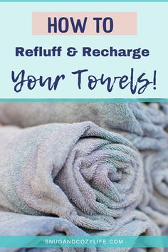 How to wash your towels so they stay soft and fluffy. Learn how to get old towels Fluffy again. tips tips and tricks tips for big families tips for hard water tips for towels
