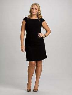 Jones studio nice little black dress on sale at dress barn cap