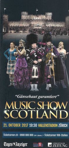 MUSIC SHOW SCOTLAND - 2017 - ORIGINAL FLYER | eBay