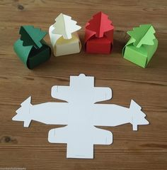 Christmas Tree Favour/Gift Box - Die Cuts- small - Jewellery/Party multi Listing | eBay