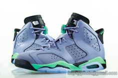 Air Jordan 6 AJ6 Jordan 6 Basketball Shoes A  Lovers Women Shoes Gray Green Lavender|only US$75.00 - follow me to pick up couopons.
