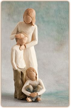 Willow Tree Mother & Son With Daughter Figurines Gift Set Willow Tree Figures, Willow Tree Angels, Willow Figurines, Willow Tree Family, Tree Quotes, Tree Wallpaper, Love My Kids, Tree Sculpture, Tree Photography