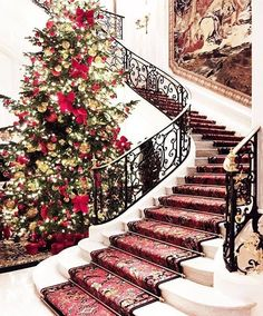 Christmas at the Ritz Paris Brisbane, The Ritz Paris, Lady Antebellum, Open Fires, Christmas Time, Shabby Chic, Christmas Decorations, Around The Worlds, Stairs