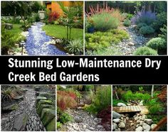 Love the dry creek bed look....