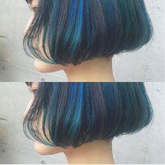 ちょっと失敗すると黒髪に近い色になりがちなブルーも、  一度、...|MERY [メリー]