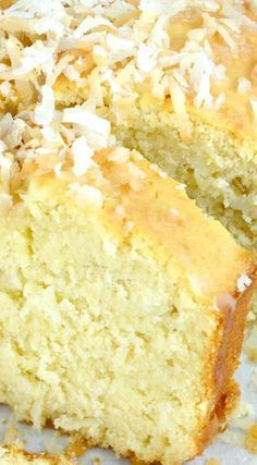 Old Fashion Coconut Buttermilk Cake...Incredibly Tender, Moist and Delicious! It's Topped with a Unique Buttermilk Coconut Glaze That Makes The Cake Super Special!!! This Is Really Easy To Put Together and is The Perfect Cake For Spring!