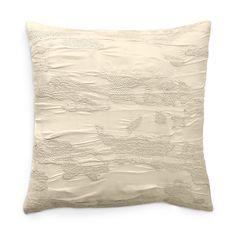 "Donna Karan Reflection Embroidered Decorative Pillow, 18"" x 18"""