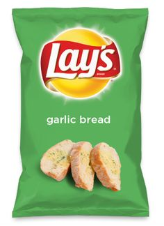 Wouldn't garlic bread be yummy as a chip? Lay's Do Us A Flavor is back, and the search is on for the yummiest flavor idea. Create a flavor, choose a chip and you could win $1 million! https://www.dousaflavor.com See Rules.