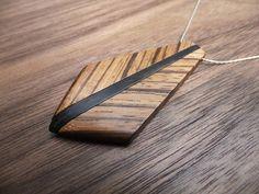 Zebrawood and ebony pendant.
