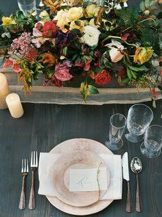 fall wedding reception table inspiration | image via: magnolia rouge