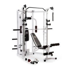 72be951bfc38 Up to 40% off Select Fitness Equipment · Marcy 5276 Combo Smith Heavy-Duty  Total Body Strength Home Gym Machine, White -
