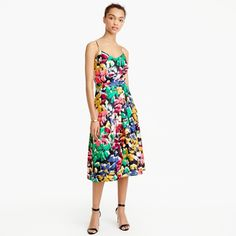 Spaghetti-strap dress in colorful brushstroke print : Women day | J.Crew ! I just got this dress today and I absolutely love it!