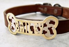 Leather Dog Collar: Dog Collar With Name.com