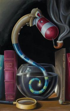 A rare limited edition canvas on board print by Peter Smith entitled Edison's Sherlock Sidewinder Peter Smith, Pop Surrealism, Buy Prints, Will Smith, Contemporary Artists, Sherlock, New Art, Art For Kids, Original Art