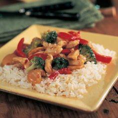 Garlic Turkey-Broccoli Stir-Fry. wok restaurante barcelona http://www.myrecipes.com/recipe/garlic-turkey-broccoli-stir-fry