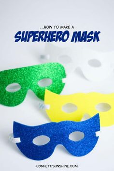 DIY Christmas Gifts for Kids - Homemade Christmas Presents for Children and Christmas Crafts for Kids   Toys,  Dress Up Clothes, Dolls and Fun Games    Step by Step tutorials and instructions for cool gifts to make for boys and girls    Super Hero Mask     http://diyjoy.com/diy-christmas-gifts-for-kids