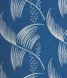 Dorothy Larcher, Small Feather, block-printed linen, 1930s
