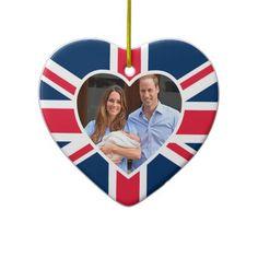 Prince George - William  Kate Christmas Tree Ornament