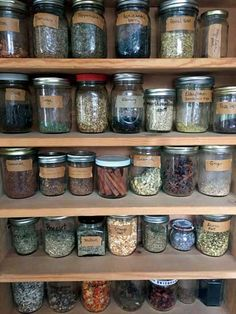 Create an Organized Home Apothecary - Health and Wellness - Mother Earth Living - - Organize dry herbs, tinctures, tea blends, and other medicine-making basics in a way that honors both form and function. Healing Herbs, Medicinal Plants, Natural Healing, Natural Health Remedies, Herbal Remedies, Gout Remedies, Natural Medicine, Herbal Medicine, Drying Herbs