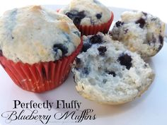 - Perfectly Fluffy Blueberry Muffins - These will melt in your mouth! Here is a super easy recipe for fluffy blueberry muffins!