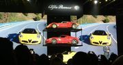 Italian auto brand Alfa Romeo, of Fiat Chrysler Automobiles, unveiled its 4C Spider Monday at the North American International Auto Show.