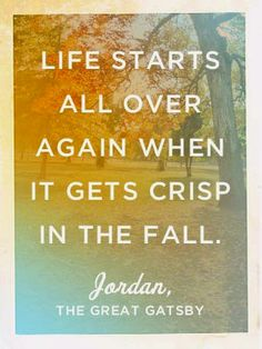 When it gets crisp in the fall. Quote.