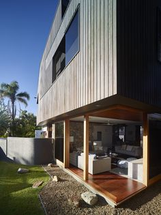 Shaun Lockyer Architects have recently completed the Sunshine Beach House in Queensland, Australia. The home was designed for a builder, who built the home for his family.